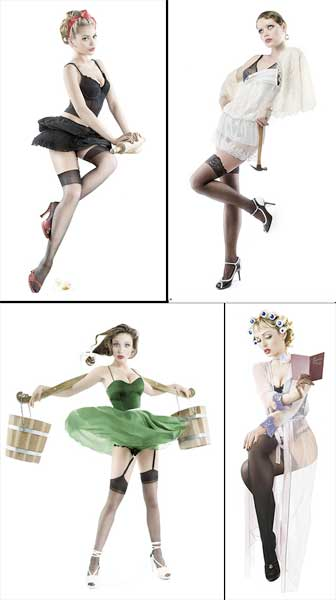 50s pin up fashion. to enjoy the happy pin-up